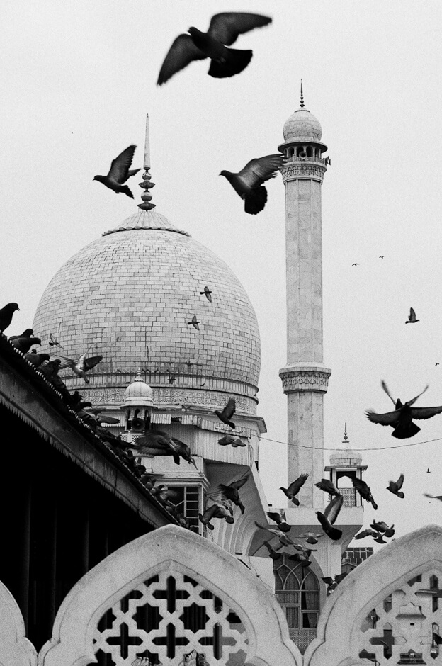 The Hazratbal Shrine in Srinagar believed by many Muslims of Kashmir to be a Hair of the Islamic prophet Muhammad.
