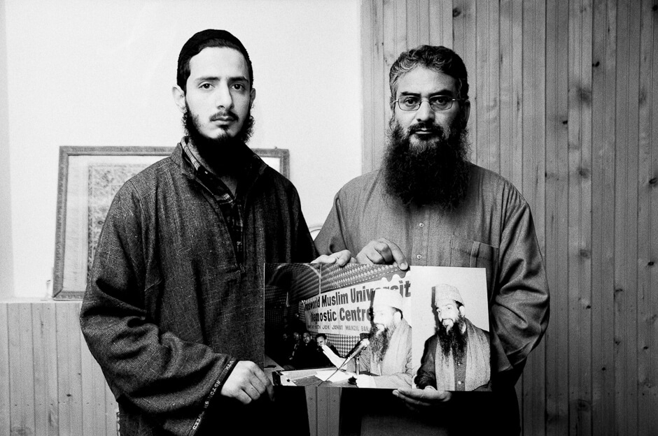son and uncle of the murdered prominent religious leader Maulvi Showkat Ahmed Shah in Indian-administered Kashmir.