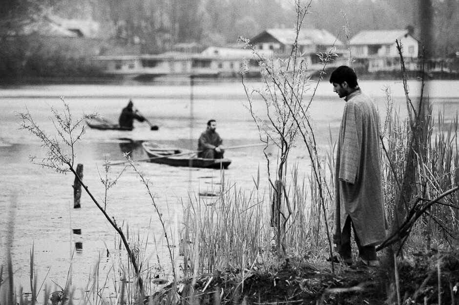 Kashmiris at the Nigeen Lake in Srinagar, the summer capital of Kashmir.