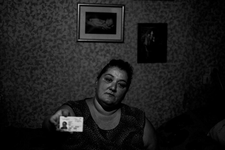 Former stateless refugee Violeta Bjania