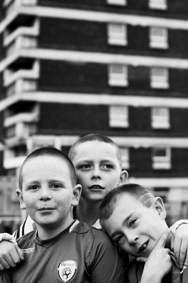 Belfast Boys - Children posing in Nationalist New Lodge/Belfast.
