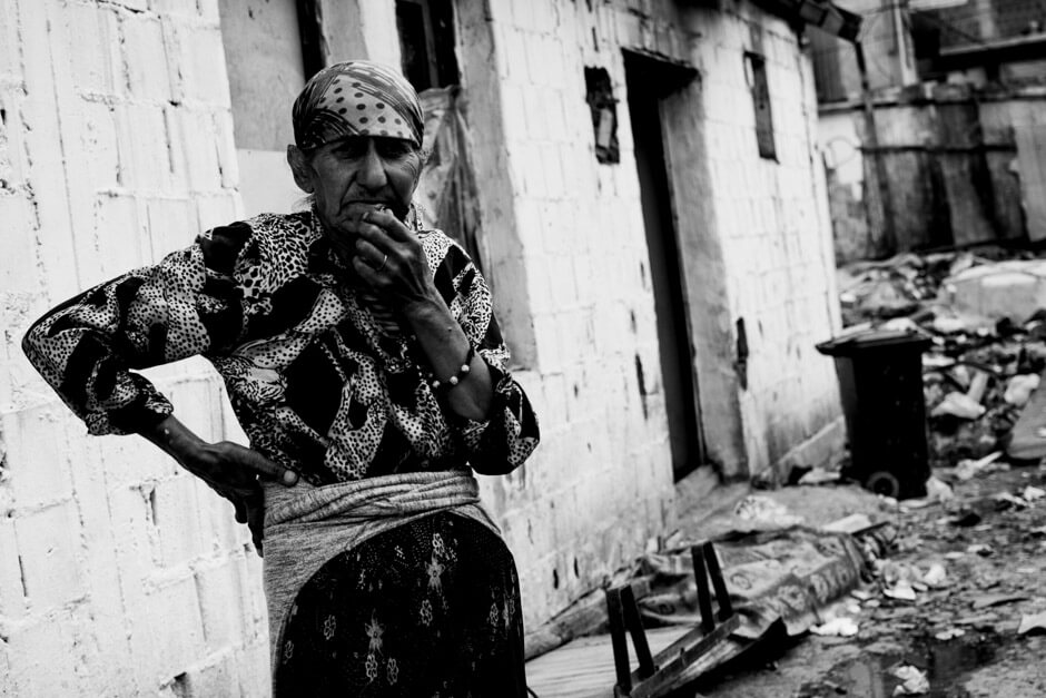 Ashkaly woman, her family's ground in Fushe Kosova is being used as a public dump.
