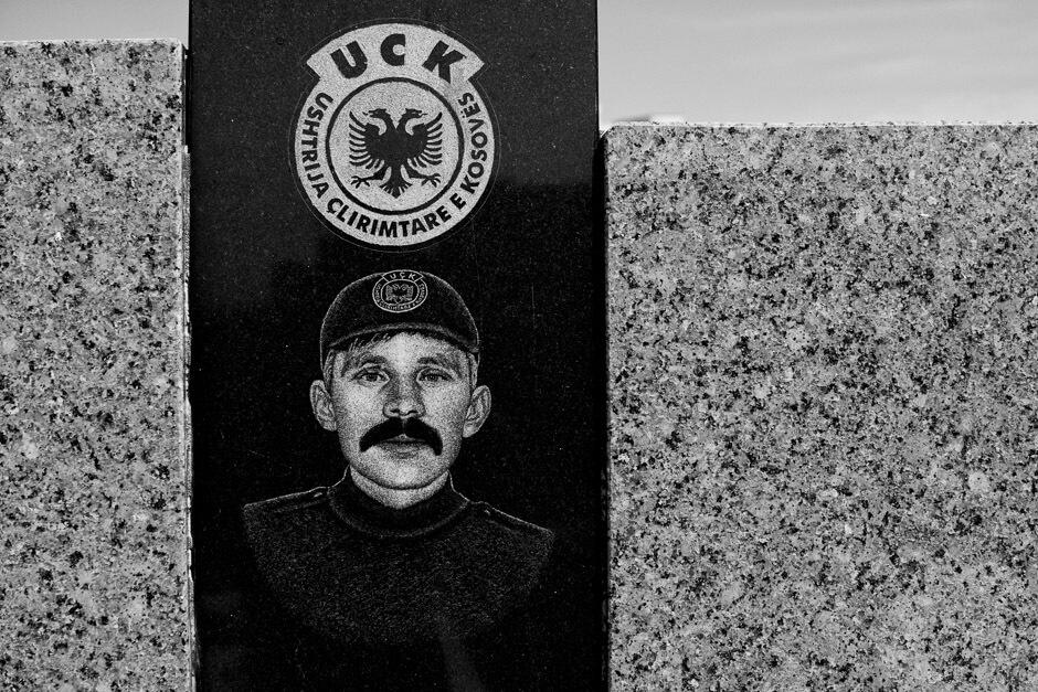 UCK/KLA gravestone in Pristina/Kosovo.