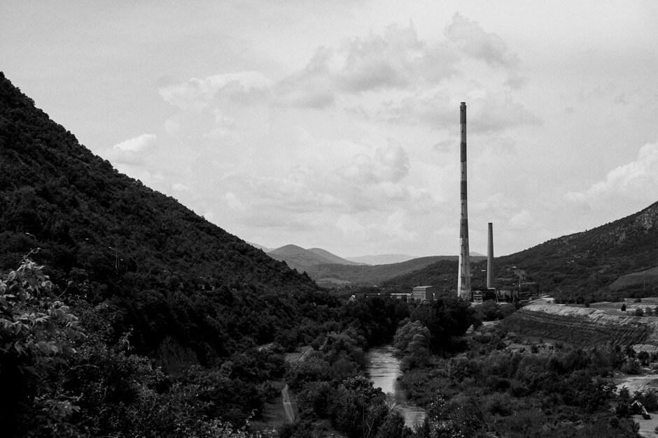 Trepča Mines northeast of Mitrovica.