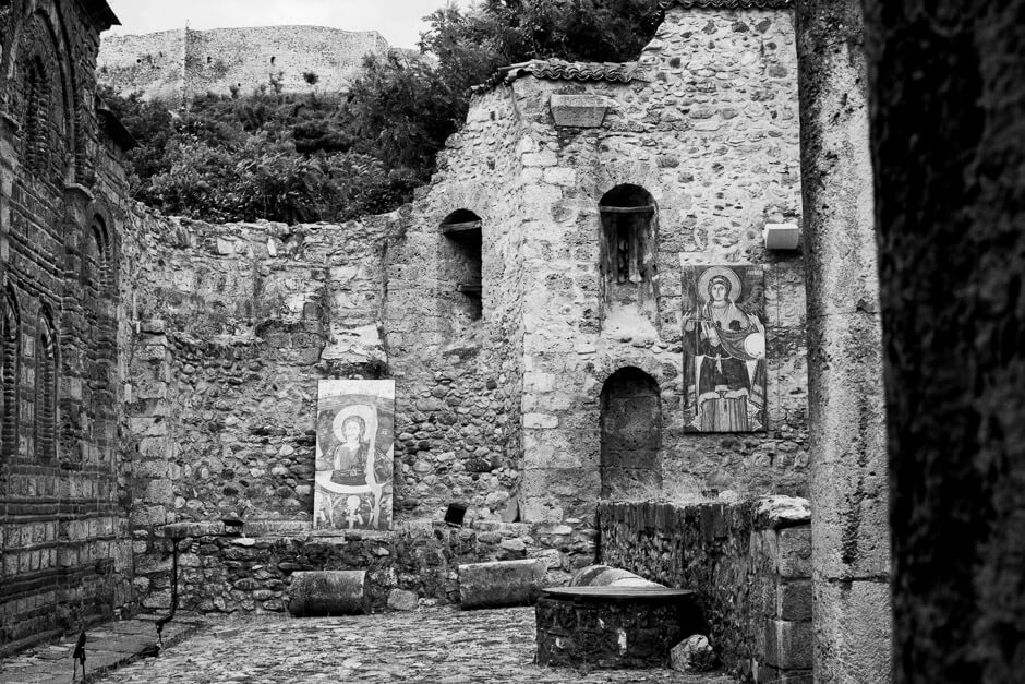 The remains of the Holy Savior Church in Prizren, which was burned down in the 2004 unrest.