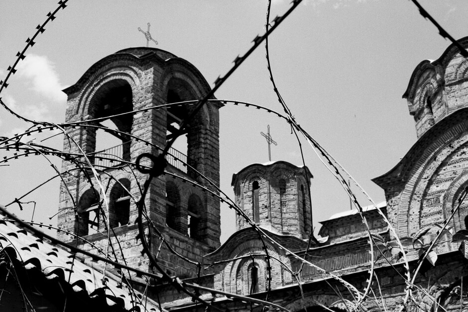 Abandoned Lady Ljevis Church in Prizren. In the 2004 unrest56 Serb houses and 5 historical churches were burnt down in the city alone.